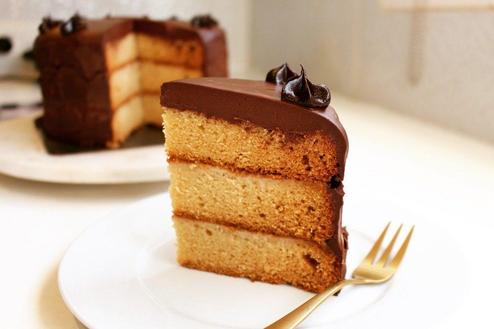 Vegan Boston Cream Pie Cake 8